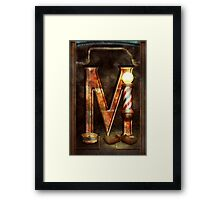 Steampunk - Alphabet - M is for Mustache Framed Print