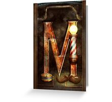 Steampunk - Alphabet - M is for Mustache Greeting Card