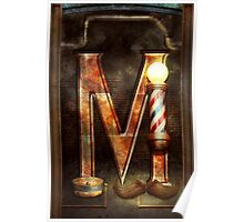 Steampunk - Alphabet - M is for Mustache Poster