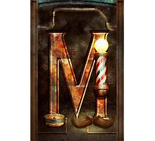 Steampunk - Alphabet - M is for Mustache Photographic Print