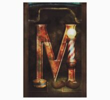 Steampunk - Alphabet - M is for Mustache Kids Tee