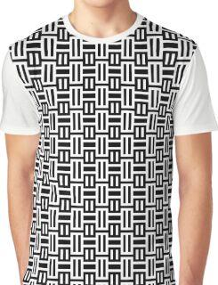 Black and White Geometric Graphic T-Shirt