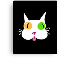 Silly White Kitty Cat Canvas Print