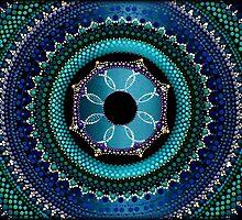 Sky Blue Mandala by Kirsty Russell