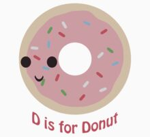 D is for Donut One Piece - Short Sleeve