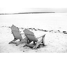 Gull Lake Winter Study 5  Photographic Print