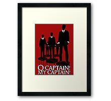 O Captain! My Captain! Framed Print