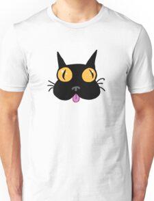 Silly Black Kitty Cat Unisex T-Shirt