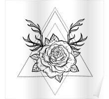 Deer Rose  Poster