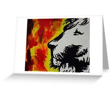 Stop Lion Greeting Card