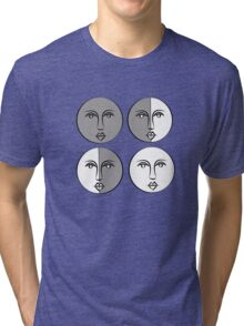 Phases of the Moon Version 1 Tri-blend T-Shirt