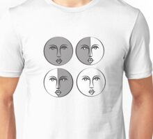 Phases of the Moon Version 1 Unisex T-Shirt