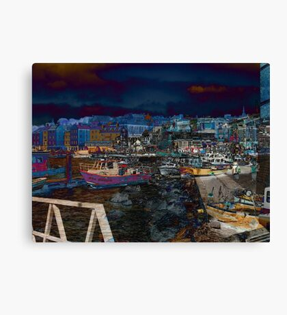 home and abroad Canvas Print