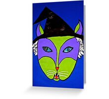 Wicked Witch Cat Greeting Card