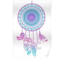 Mandala in dreamcatcher Poster