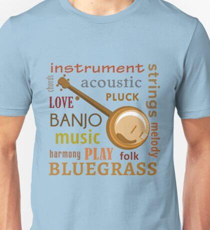 Banjo Words Unisex T-Shirt