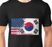Korean American Half South Korea Half America Flag Unisex T-Shirt