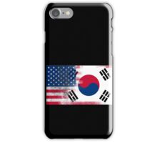Korean American Half South Korea Half America Flag iPhone Case/Skin