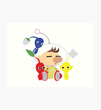 Olimar and Pikmin Vector Art Print
