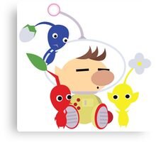 Olimar and Pikmin Vector Canvas Print