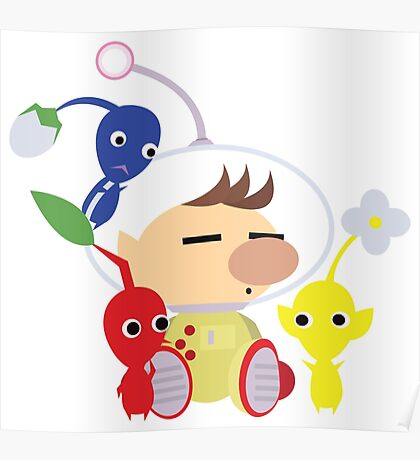 Olimar and Pikmin Vector Poster