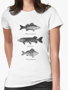 Zander, pike and perch Womens Fitted T-Shirt