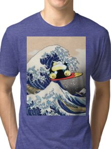 Snorlax Learned Surf! Tri-blend T-Shirt