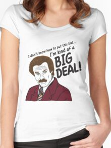 Ron Burgundy - 'I'm kind of a big deal' quote Women's Fitted Scoop T-Shirt