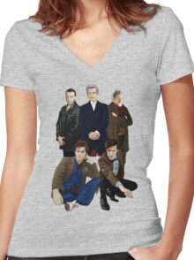 Doctor Who - The Doctors Women's Fitted V-Neck T-Shirt