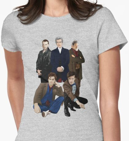 Doctor Who - The Doctors Womens Fitted T-Shirt
