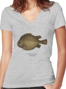 Lumpfish Women's Fitted V-Neck T-Shirt