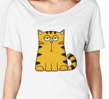 Orange Black Cat Ho Hum Who Cares Kitty Women's Relaxed Fit T-Shirt