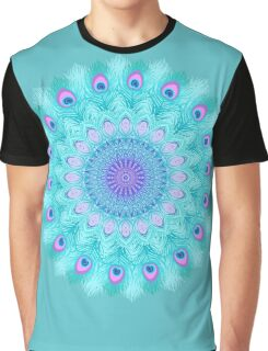 Peacock feathers mandala Graphic T-Shirt