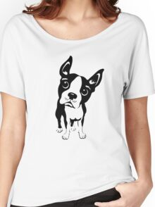 Boston Terrier Dog  Women's Relaxed Fit T-Shirt