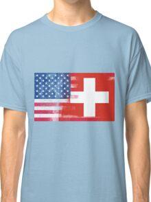 Swiss American Half Switzerland Half America Flag Classic T-Shirt