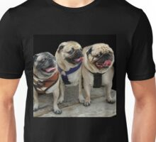 Three Little Pugs! Unisex T-Shirt