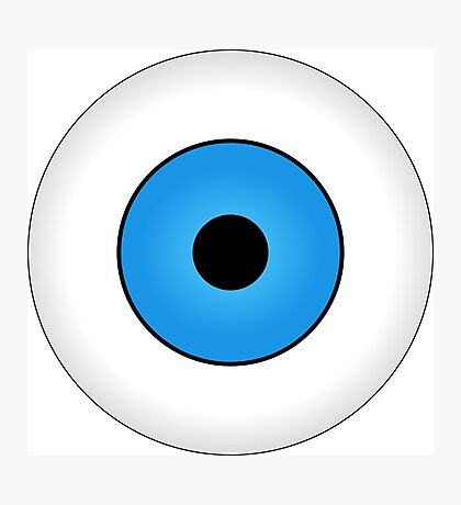 Eyes blue body face human Photographic Print