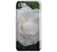 WHITE ROSES AND RAINDROPS iPhone Case/Skin