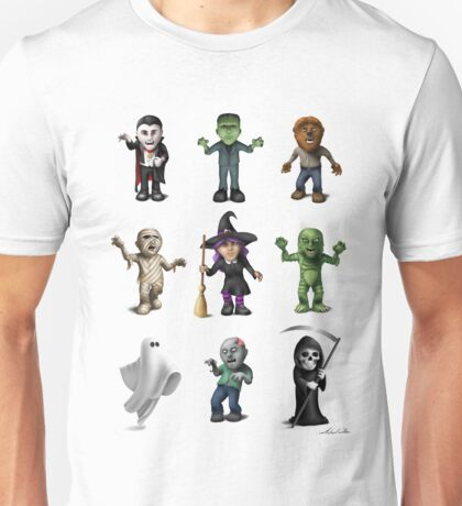 Halloween Characters Unisex T-Shirt