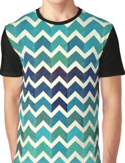 Watercolor Chevron Pattern IV Graphic T-Shirt