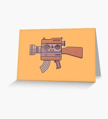 Camera Gun Greeting Card