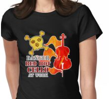 Red Hot Cello Womens Fitted T-Shirt