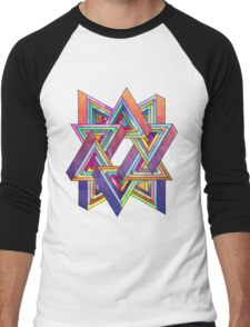 Abstract Triangles Men's Baseball ¾ T-Shirt