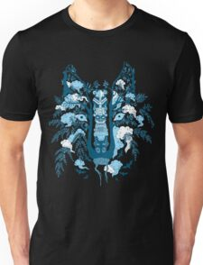 Psychedelic plants and totem wolf Unisex T-Shirt