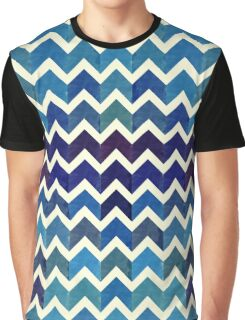 Watercolor Chevron Pattern V Graphic T-Shirt