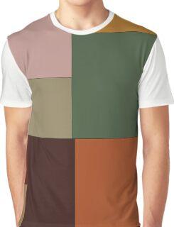 Abstraction #156 Green Orange pink blocks Graphic T-Shirt