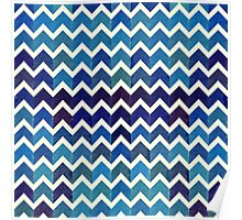 Watercolor Chevron Pattern V Poster