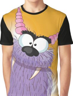 Hairy Purple People Eater Graphic T-Shirt