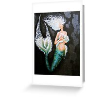 Serena - Mermaid art Greeting Card