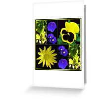 Bright and Beautiful Floral Collage Greeting Card
